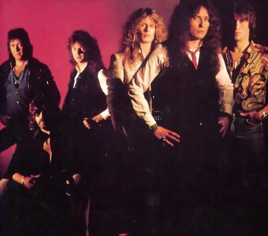 84-Mel Galley, Jon Lord, Neil Murray, John Sykes, David Coverdale, Cozy Powell..